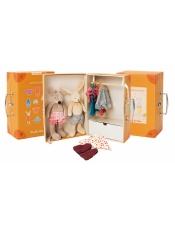 La Grand Famille Чемоданчик-гардероб с одеждой и 2-я игрушками Мышка и Кролик. 632401